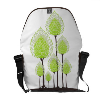 Trees - Abstract - 8 Courier Bag