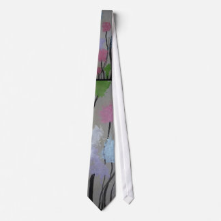Trees abstract landscape tie