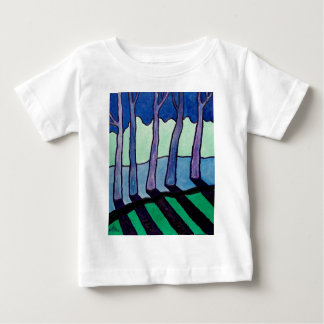 Trees Abstracted blue by Piliero Baby T-Shirt