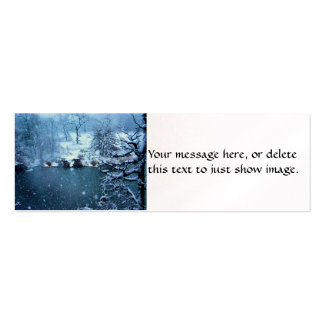 Trees Across the Lake Double-Sided Mini Business Cards (Pack Of 20)