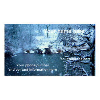 Trees Across the Lake Double-Sided Standard Business Cards (Pack Of 100)