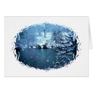 Trees Across the Lake Card