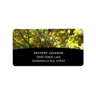 Trees Address Labels