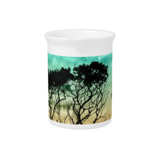 trees aet design colors fashion drink pitcher