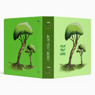 Trees and a Bird Binders