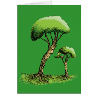 Trees and a Bird Card