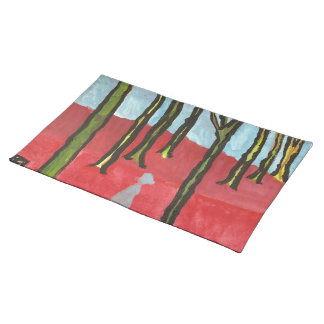 Trees and a man  American MoJo Placemat Cloth Placemat