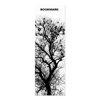 Trees and birds bookmark Double-Sided mini business cards (Pack of 20)