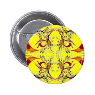 Trees and Birds fantasy Pinback Button