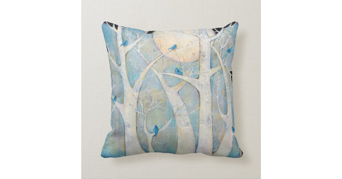 Newport Throw Pillows Birds : Trees and Birds Throw Pillows Zazzle