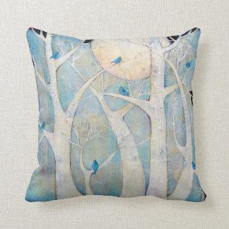 Trees and Birds Throw Pillows Pillow