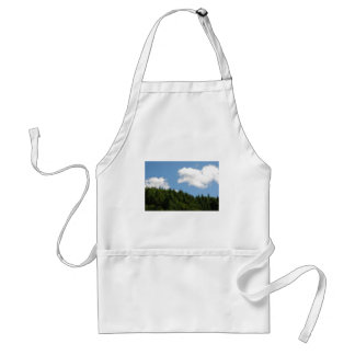 Trees and blue sky adult apron