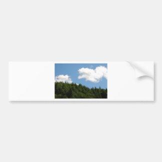 Trees and blue sky bumper sticker