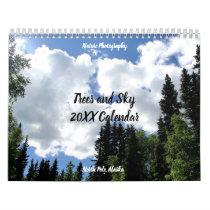 Trees and Blue Sky Nature Photography Calendar