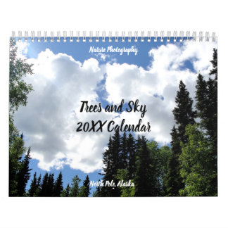 Trees and Blue Sky Nature Photography Calendar