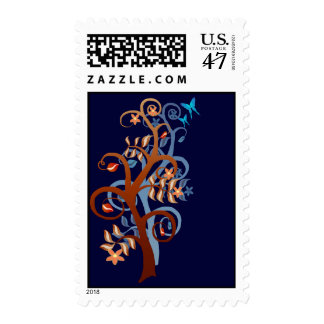Trees and Butterflies Postage