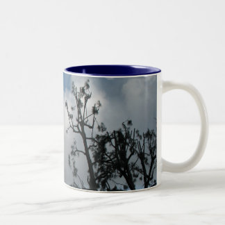 Trees and Clouds Two-Tone Coffee Mug