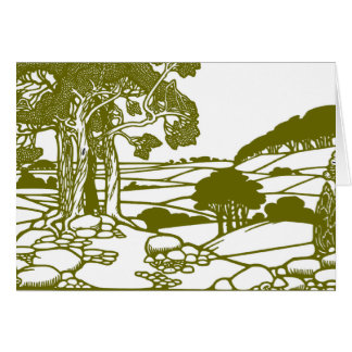 Trees and countryside card