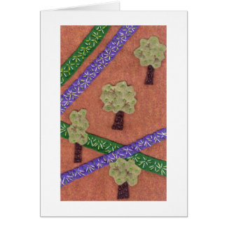 Trees and Crossroads Stationery Note Card
