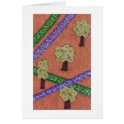Trees and Crossroads Card