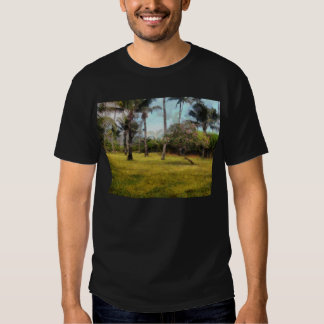 Trees and grass t shirt