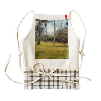 Trees and grass zazzle HEART apron