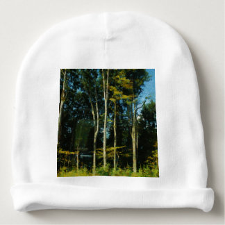 Trees and greenery baby beanie