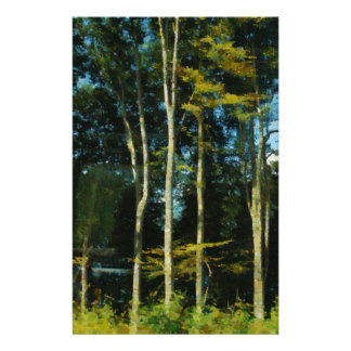 Trees and greenery stationery