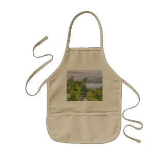 Trees and houses overlooking a lake kids' apron