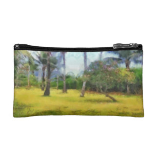 Trees and local greenery cosmetic bag
