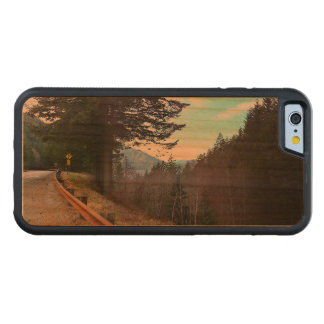 Trees and Mountains Olympic National Park Carved Cherry iPhone 6 Bumper Case