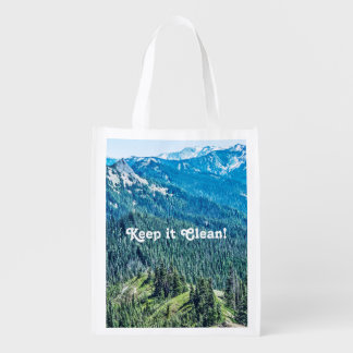 Trees and  Ridges Grocery Bag