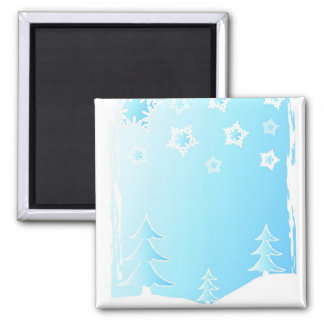Trees and snowflakes - Magnet