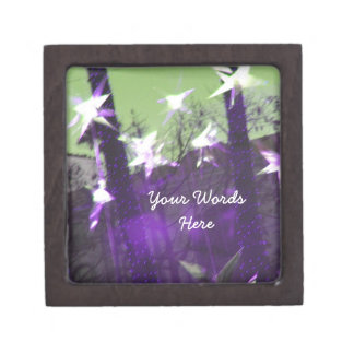 Trees and Stars Abstract Gift Box