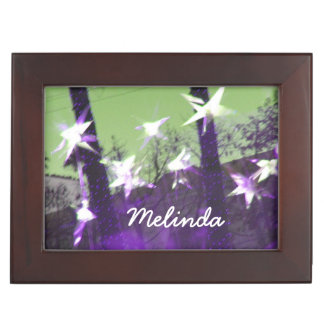 Trees and Stars Abstract Keepsake Box