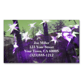 Trees and Stars Abstract Magnetic Business Card
