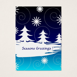 Trees and stars - Gift tag card