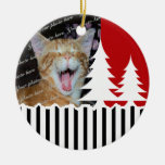 Trees and Stripes Photo Ornaments