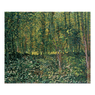 Trees and Undergrowth, 1887 Print