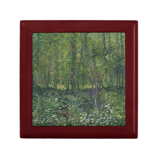 Trees and Undergrowth by Vincent Van Gogh Jewelry Box