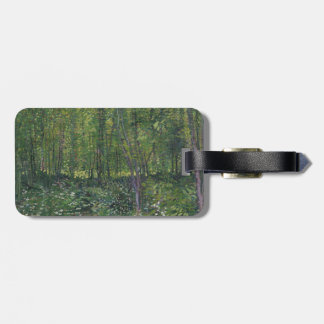 Trees and Undergrowth by Vincent Van Gogh Travel Bag Tags