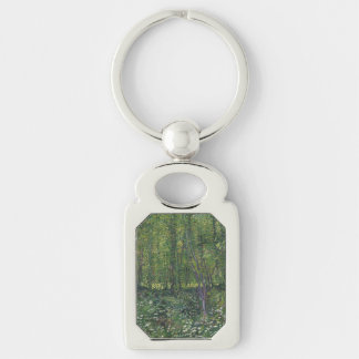 Trees and Undergrowth by Vincent Van Gogh Key Chain