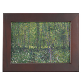 Trees and Undergrowth by Vincent Van Gogh Memory Box