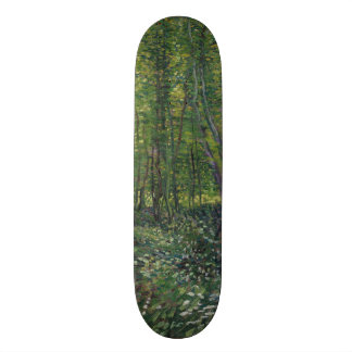 Trees and Undergrowth by Vincent Van Gogh Skate Decks