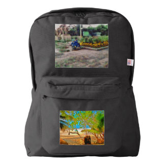 Trees and water backpack