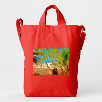 Trees and water duck bag