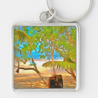 Trees and water keychain