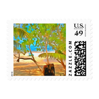 Trees and water postage