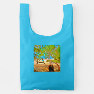 Trees and water reusable bag