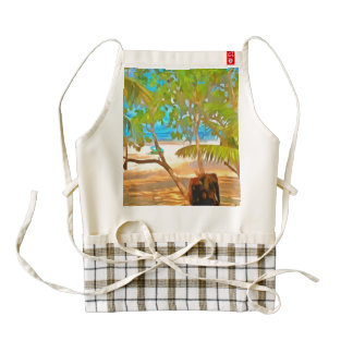 Trees and water zazzle HEART apron